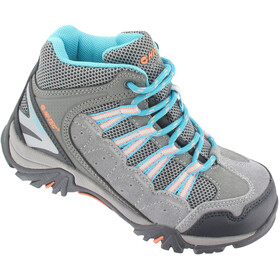 Hi-Tec Forza Mid WP Shoes Junior Cool Grey/Curacao Blue/Papaya Punch